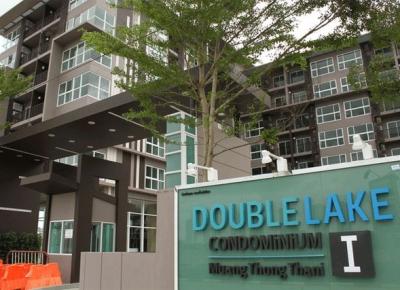 ให้เช่า คอนโด Double Lake เมืองทอง ห้องมุม  วิวทะเลสาบ 56.5 ตรม 2 ห้องนอน 2 ห้องน้ำ